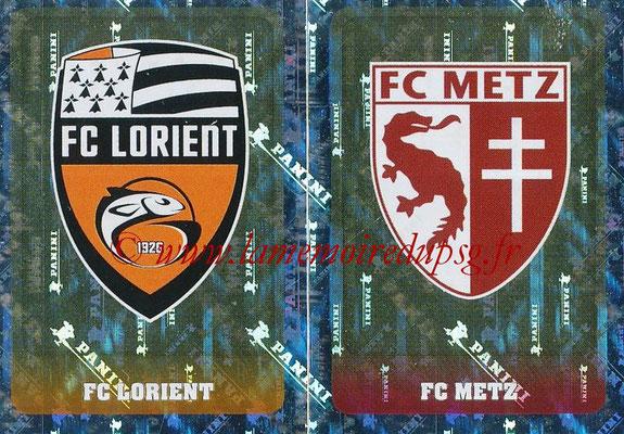 2018-19 - Panini Ligue 1 Stickers - N° 540 - Ecussons AC Ajaccio + Gazélec Ajaccio