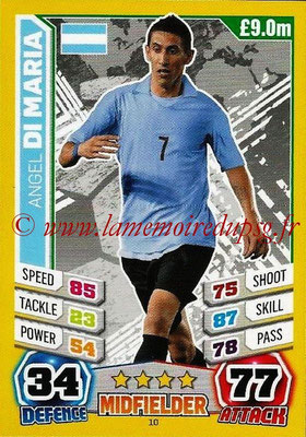 Topps Match Attax England 2014 - N° 010 - Angel DI MARIA (Argentine)