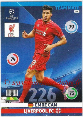 2014-15 - Adrenalyn XL champions League N° 156 - Emre CAN (Liverpool FC)