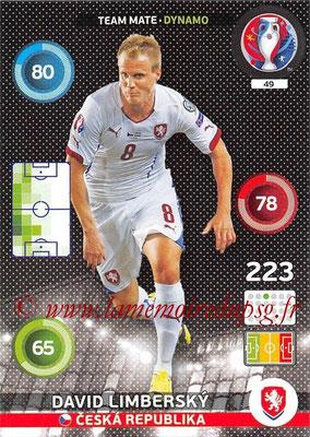 Panini Euro 2016 Cards - N° 049 - David LIMBERSKY (République Tchèque) (Dynamo)