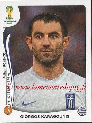 2014 - Panini FIFA World Cup Brazil Stickers - N° 213 - Giorgos KARAGOUNIS (Grèce)