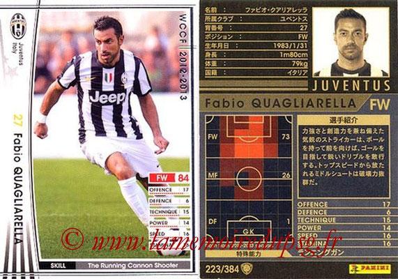 2012-13 - WCCF - N° 223 - Fabio QUAGLIARELLA (Juventus FC)