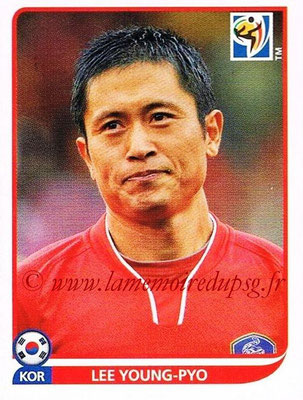 2010 - Panini FIFA World Cup South Africa Stickers - N° 153 - Lee YOUNG-PYO (Corée du Sud)