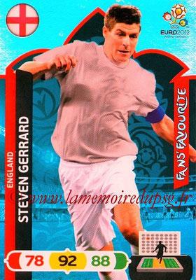 Panini Euro 2012 Cards Adrenalyn XL - N° 249 - Steven GERRARD (Angleterre) (Fans' Favourite)