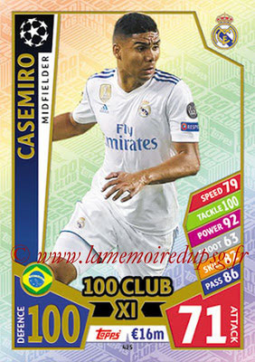 2017-18 - Topps UEFA Champions League Match Attax - N° 425 - CASEMIRO (Real Madrid CF) (UCL Club XI)