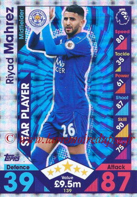 2016-17 - Topps Match Attax Premier League - N° 139