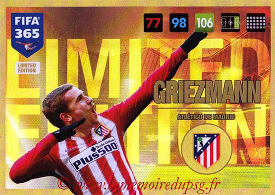 2016-17 - Panini Adrenalyn XL FIFA 365 - N° LE08 - Antoine GRIEZMANN (Atletico de Madrid) (Limited Edition)