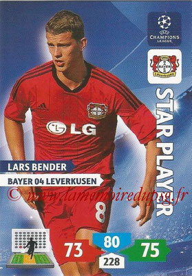 2013-14 - Adrenalyn XL champions League N° 078 - Lars BENDER (Bayer 04 Leverkusen) (Star Player)