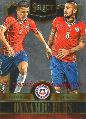 2015 - Panini Select Soccer - N° DD04 - Alexis SANCHEZ + Arturo VIDAL (Chili) (Dynamic Duos)