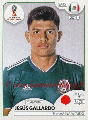 2018 - Panini FIFA World Cup Russia Stickers - N° 458 - Jesus GALLARDO (Mexique)