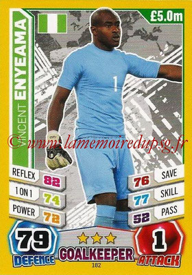 Topps Match Attax England 2014 - N° 182 - Vincent ENYEAMA (Nigéria)