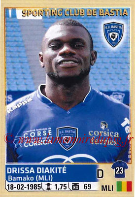 2014-15 - Panini Ligue 1 Stickers - N° 005 - Drissa DIAKITÉ (SC Bastia)