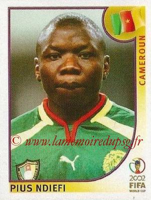 2002 - Panini FIFA World Cup Stickers - N° 384 - Pius NDIEFI (Cameroun)