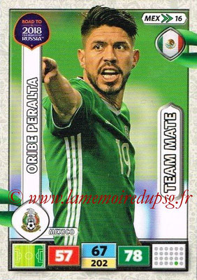 2018 - Panini Road to FIFA World Cup Russia Adrenalyn XL - N° MEX16 - Oribe PERALTA (Mexique).JPG