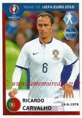 Panini Road to Euro 2016 Stickers - N° 227 - Ricardo CARVALHO (Portugal)