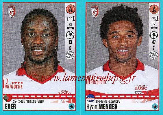 2016-17 - Panini Ligue 1 Stickers - N° 292 + 293 - EDER + Ryan MENDES (Lille)