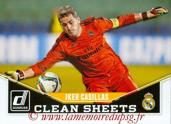2015 - Panini Donruss Soccer - N° CS05 - Iker CASILLAS (Real Madrid FC) (Clean Sheets)