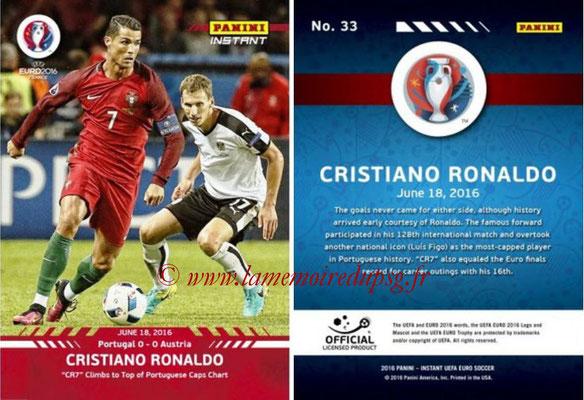 Panini Instant Euro 2016 - N° 033 - Cristiano RONALDO