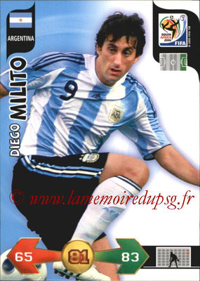 2010 - Panini FIFA World Cup South Africa Adrenalyn XL - N° 018 - Diego MILITO (Argentine)