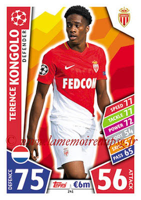 2017-18 - Topps UEFA Champions League Match Attax - N° 241 - Terence KONGOLO (AS Monaco)