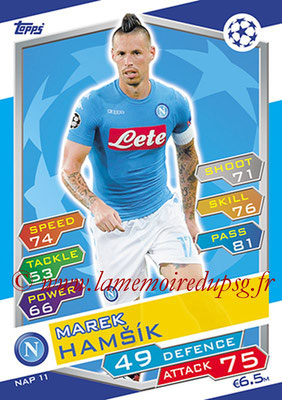2016-17 - Topps UEFA Champions League Match Attax - N° NAP11 - Marek HAMSIK (SSC Naples)