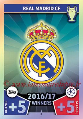 2017-18 - Topps UEFA Champions League Match Attax - N° 001 - Logo Real Madrid CF (Club Badge)
