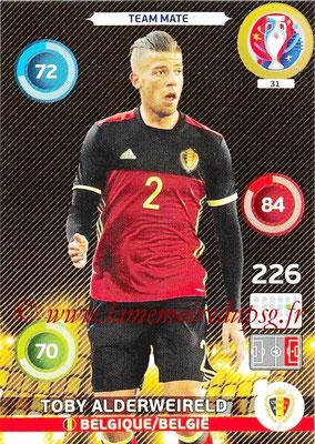 Panini Euro 2016 Cards - N° 031 - Toby ALDERWEIRELD (Belgique)