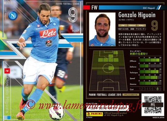 Panini Football League 2015 - PFL13 - N° 030 - Gonzalo HIGUAIN (SSC Napoli) (Star)