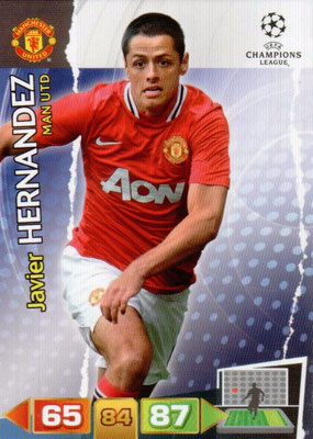2011-12 - Panini Champions League Cards - N° 156 - Javier HERNANDEZ (Manchester United FC)