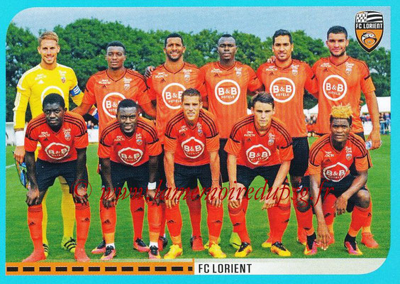 2016-17 - Panini Ligue 1 Stickers - N° 298 - Equipe Lorient