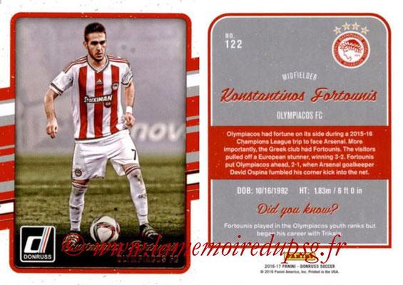 2016 - Panini Donruss Cards - N° 122 - Konstantinos FORTOUNIS (Olympiacos FC)
