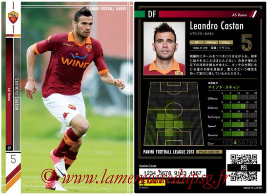 Panini Football League 2013 - PFL01 - N° 035 - Leandro Castan ( AS Roma )