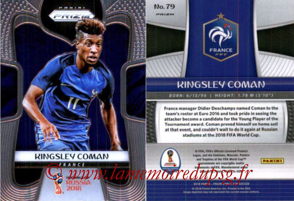 2018 - Panini Prizm FIFA World Cup Russia - N° 079 - Kingsley COMAN (France)