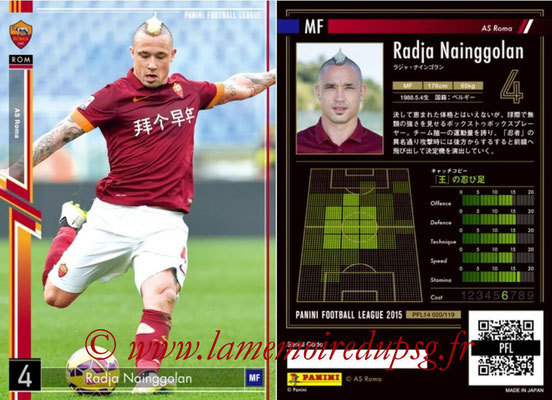Panini Football League 2015 - PFL14 - N° 020 - Radja NAINGGOLAN (AS Roma)