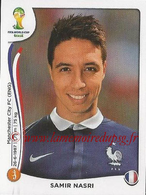 2014 - Panini FIFA World Cup Brazil Stickers - N° 388 - Samir NASRI (France)