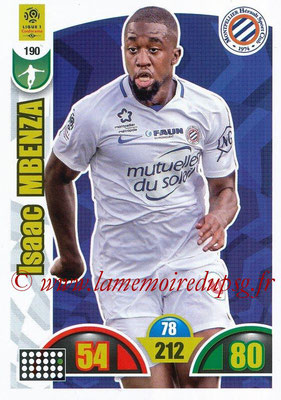 2018-19 - Panini Adrenalyn XL Ligue 1 - N° 190 - Isaac MBENZA (Montpellier)