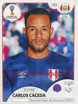 2018 - Panini FIFA World Cup Russia Stickers - N° 235 - Carlos CACEDA (Pérou)