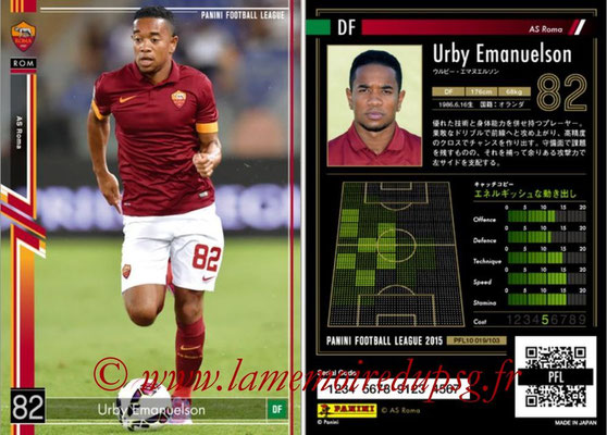 Panini Football League 2015 - PFL10 - N° 019 - Urby EMANUELSON (AS Roma)