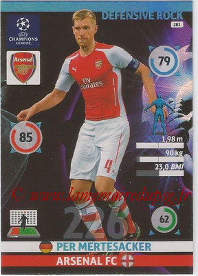 2014-15 - Adrenalyn XL champions League N° 281 - Per MERTESACKER (Arsenal FC) (Defensive Rock)