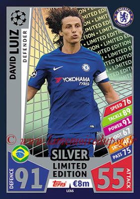 2017-18 - Topps UEFA Champions League Match Attax - N° LE6S - David Luiz (Chelsea FC) (Limited Edition Silver)