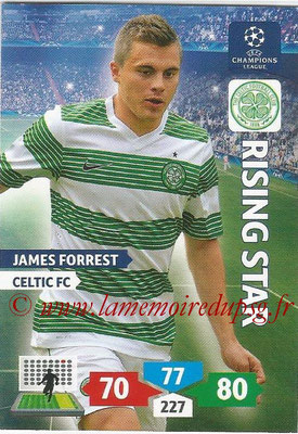 2013-14 - Adrenalyn XL champions League N° 117 - James FORREST (Celtic FC) (Rising Star)