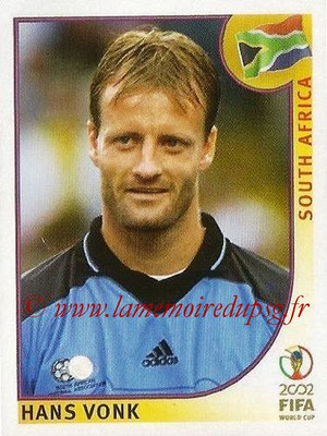 2002 - Panini FIFA World Cup Stickers - N° 153 - Hans VONK (Afrique du Sud)