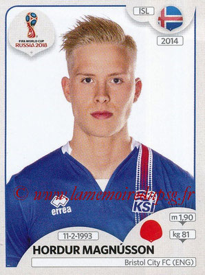 2018 - Panini FIFA World Cup Russia Stickers - N° 300 - Hordur MAGNUSSON (Islande)