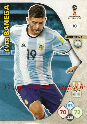 2018 - Panini FIFA World Cup Russia Adrenalyn XL - N° 010 - Ever BANEGA (Argentine)