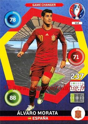 Panini Euro 2016 Cards - N° 112 - Alvaro MORATA (Espagne) (Game Changer)