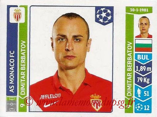 2014-15 - Panini Champions League N° 244 - Dimitar BERBATOV (AS Monaco)