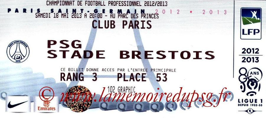 Tickets  Brest-PSG  2012-13