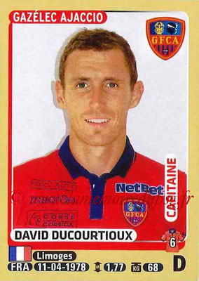 2015-16 - Panini Ligue 1 Stickers - N° 008 - David DUCOURTIOUX (Gazélec Ajaccio) (Capitaine)