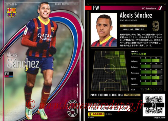 Panini Football League 2014 - PFL07 - N° 039 - Alexis SANCHEZ (FC Barcelone) (Star +)