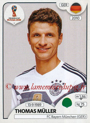 2018 - Panini FIFA World Cup Russia Stickers - N° 450 - Thomas MULLER (Allemagne)